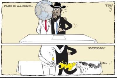 South Sudan's President Kiir has signed a peace deal with rebel leader Riek Machar.