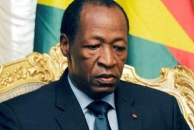 Former Burkinabé president Blaise Compaoré.
