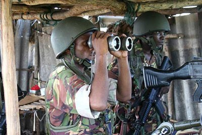 Kenyan troops in Somalia (file photo).