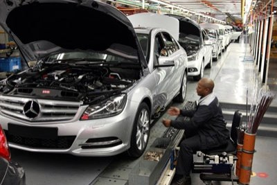 Mercedes Benz construction plant in South Africa (file photo).