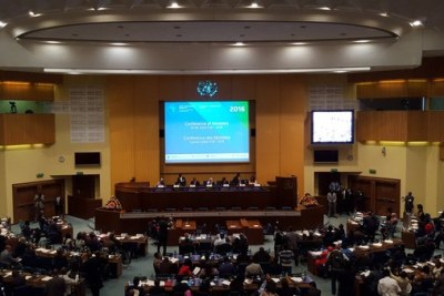 The opening session of the Conference of Ministers at the Africa Development Week taking place in Addis Ababa, Ethiopia.