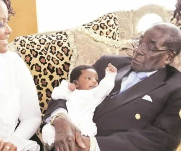 President Mugabe Meets First-Ever Grandson