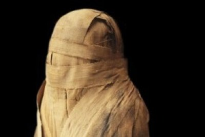 Wrapped mummy of Ankhefenmut from the 21st Dynasty (1069-945 B.C.) found in Bab el-Gasus, Egypt. Historians originally thought that Ankhefenmut was a woman.