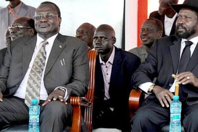 (Photo d'archives) - Les combats entre les forces loyales au président Salva Kiir et le vice-président Riek Machar, le vice-président du Soudan du Sud, ont fait au moins 300 morts, jusqu'à ce jour