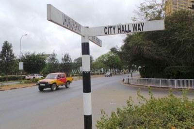 Roads near the Kenyatta International Convention Centre.