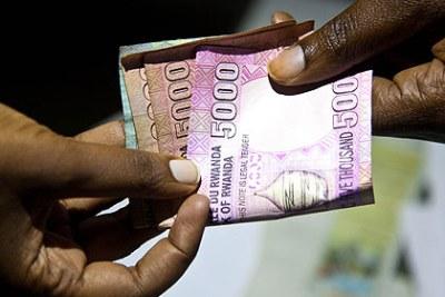 Corruption. francs.Rwandais