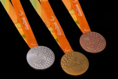 Medals for the 2016 Paralympic Games in Rio de Janeiro.