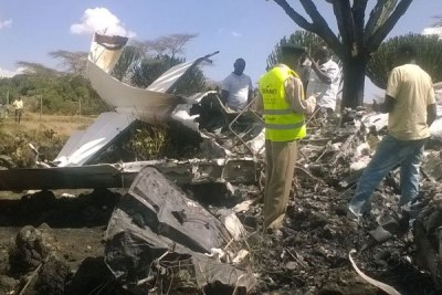 (Photo d'archives) - Image du crash d'un avion en Afrique