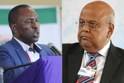 Mineral Resources Minister, Mosebenzi Zwane and Finance Minister, Pravin Gordhan.
