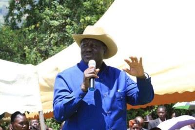 Nasa leader, Raila Odinga.