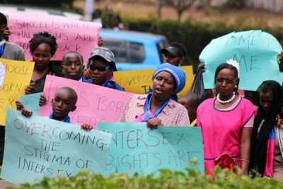 Demonstrators march through Nairobi streets to present a petition to parliament (file photo).