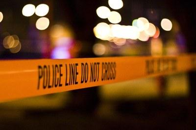 Police line. Crime scene tape.