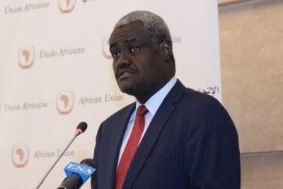Moussa Faki Mahamat du Tchad, président de la Commission de l'Union africaine (UA)
