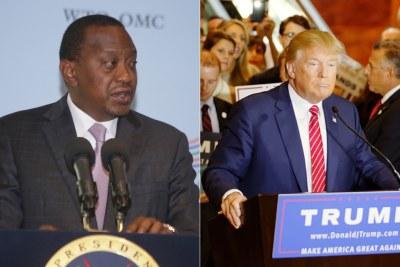 Presidents Uhuru Kenyatta and Donald Trump.