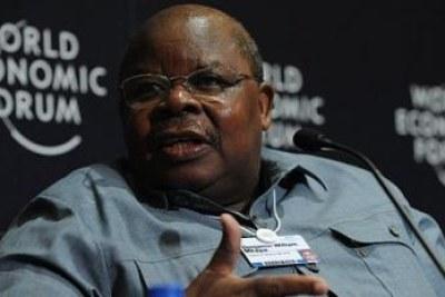 Benjamin Mkapa, l'ex-président tanzanie, qui joue le rôle de médiateur dans la crise burundaise (image d'archives).