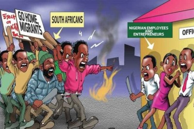 Attacks against Nigerians (file photo).