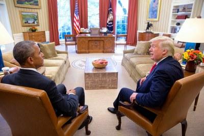 Former U.S. President Barrak Obama and President Donald Trump (file photo).