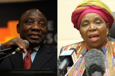 Left: Deputy President Cyril Ramaphosa. Right: Former African Union Chair Nkosazana Dlamini-Zuma.