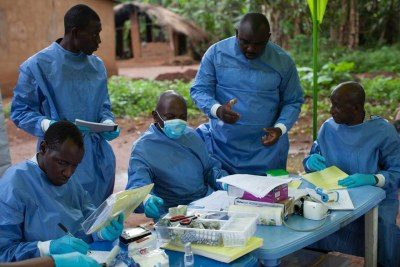 An Ebola vaccination team (file photo).