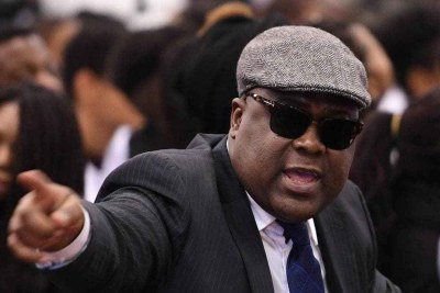 Opposition party leader Felix Tshisekedi.