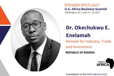 Dr. Okechukwu E. Enelamah, Honorable Minister for Industry, Trade and Investment