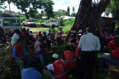 Kenya Red Cross personnel and the victims of Jima attack.