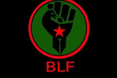 Black First Land First logo.