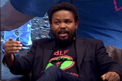 Screenshot from an interview with BLF leader Andile Mngxitama (file photo).