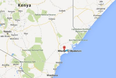 The Witu area, which is 34km from Mpeketoni in Lamu County.