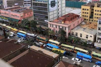 Matatus queue on Moi Avenue Street (file photo).