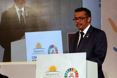 Dr. Tedros Adhanom Ghebreyesus, Director General, World Health Organization, speaking at the World Conference on NCDs in Montevideo.