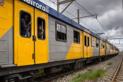 Metrorail train at Nyanga train station in Cape Town (file photo).