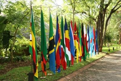 Les drapeaux des pays de la SADC