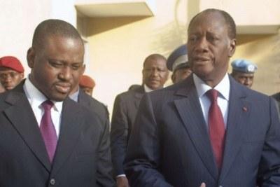 Alassane Ouattara et Guillaume Soro ont échangé