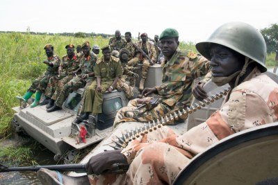South Sudan soldiers (file photo).