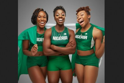 Nigeria's women bobsled team.