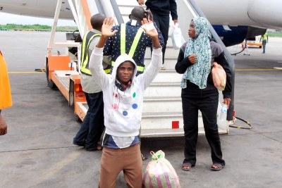 One of the 164 returnees from Libya.