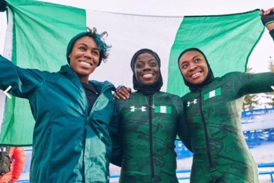 The Nigeria women's bobsleigh trio of Seun Adigun and brakemen Ngozi Onwumere and Akuoma Omeoga, qualified as the first Nigerians to compete at the Winter Olympics in 2018.