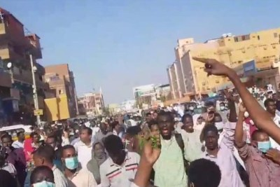 Protests on January 17, 2018 in Omdurman against the price hikes.