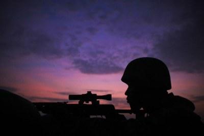 Un soldat de la Mission de l'Union africaine en Somalie.