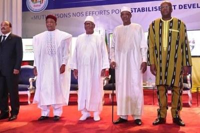 Chefs d'Etat du G5 Sahel