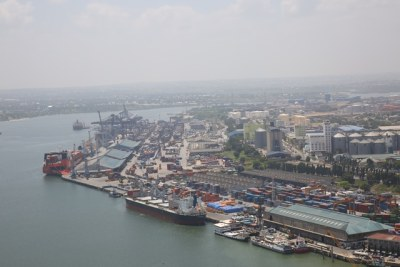 The Dar es Salaam port (file photo)