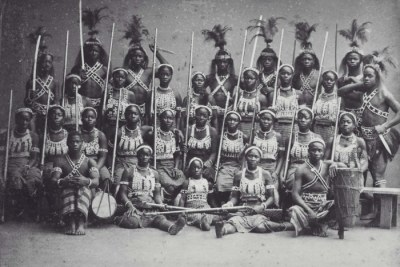 A troop of Dahomey Amazons
