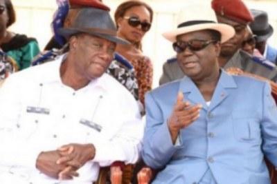 Alassanne Ouattara en compagnie de Henri Konan Bédié