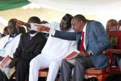 President Uhuru Kenyatta and Nasa leader Raila Odinga.