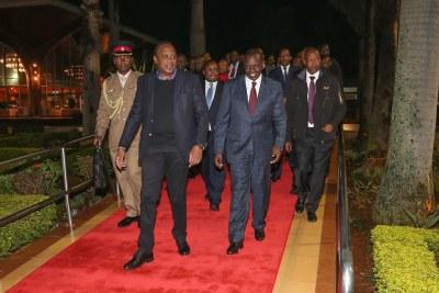 President Uhuru Kenyatta and his delegation leave for Cuba.
