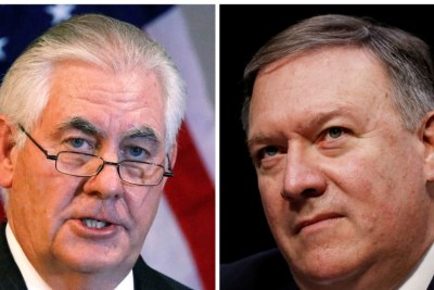 U.S. Secretary of State Tex Tillerson and CIA Director Mike Pompeo