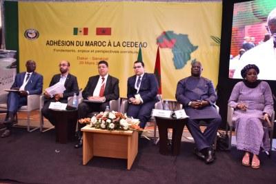 Panel Amadeus sur l'adhésion du Maroc dans la CEDEAO, Dakar le 29 mars 2018 à Dakar