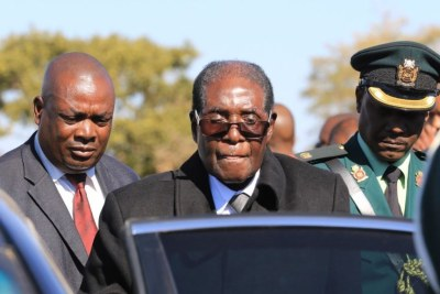 The late former president Robert Mugabe (file photo).