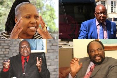 Ministers Oppah Muchinguri, Simbarashe Mumbengegwi, Christopher Mushowe and top advisor to the president, Christopher Mutsvangwa (file photo).